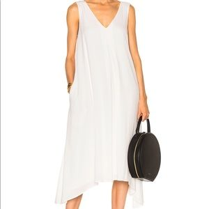 James Perse White double V dress